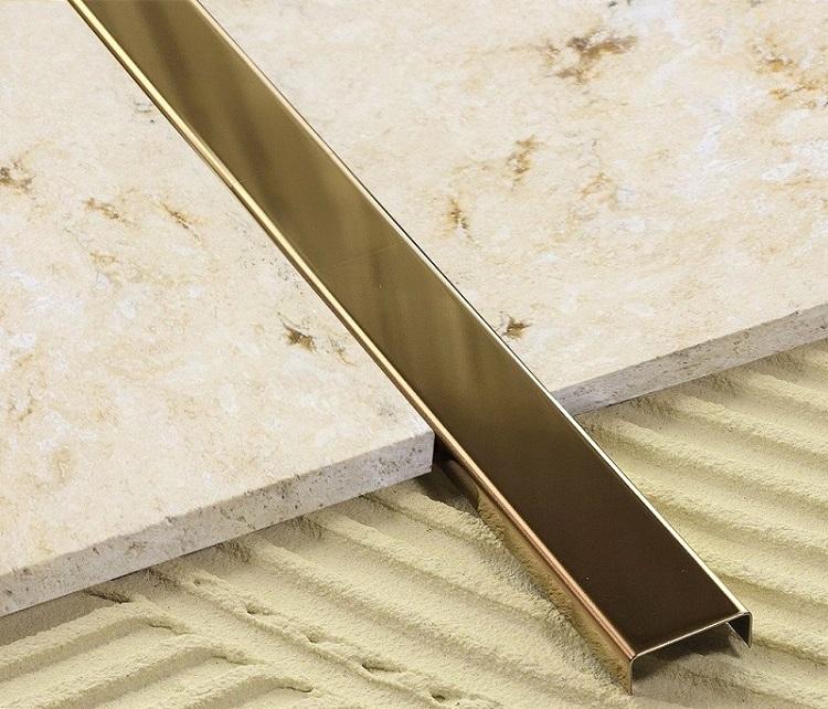 Listwa Metalowa Do Płytek Złota Lustro 23 X 244cm
